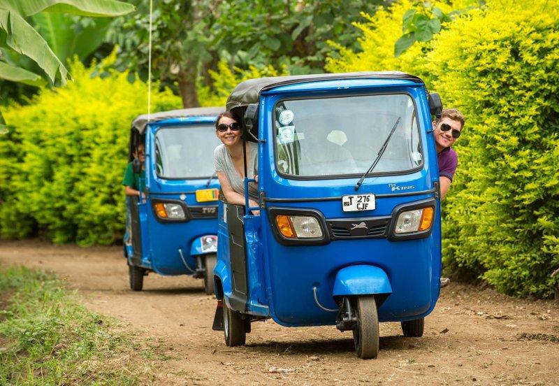 On a tuktuk tour in Mto wa Mbu