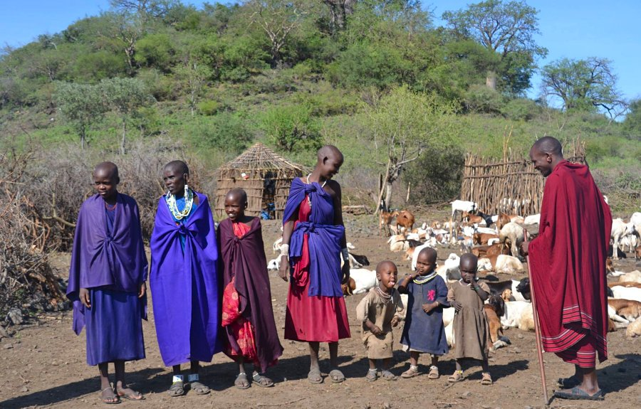 Visit to local Maasai boma from Mama Yamath