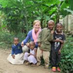 Meeting the local children during a village walk in Mto wa Mbu