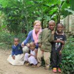Meeting the local children during a village walk in Mto wa Mbu