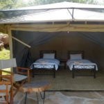 Furnished safari tent twin Migombani Camp