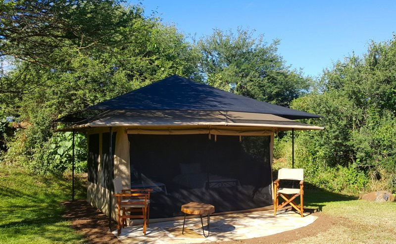 Safari tent at Migombani Camp