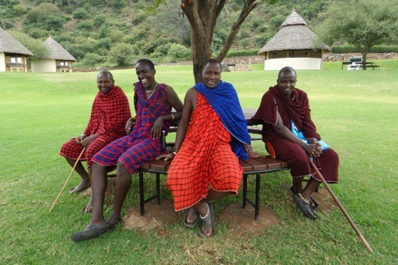 Maasai warriors at Migombani Campsite