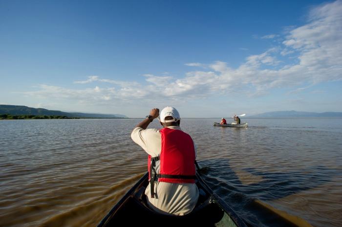 Canoe safari at Lake Manyara National Park